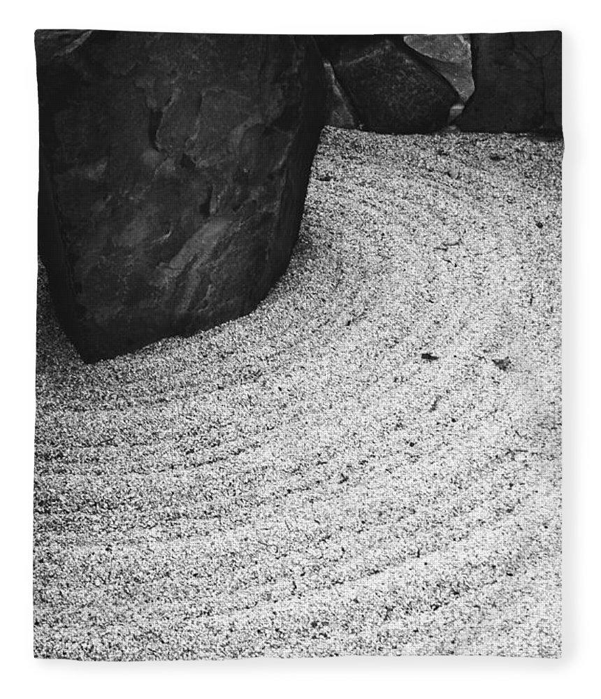 Fleece Blanket featuring the photograph Zen Circle by Jamie Lynn