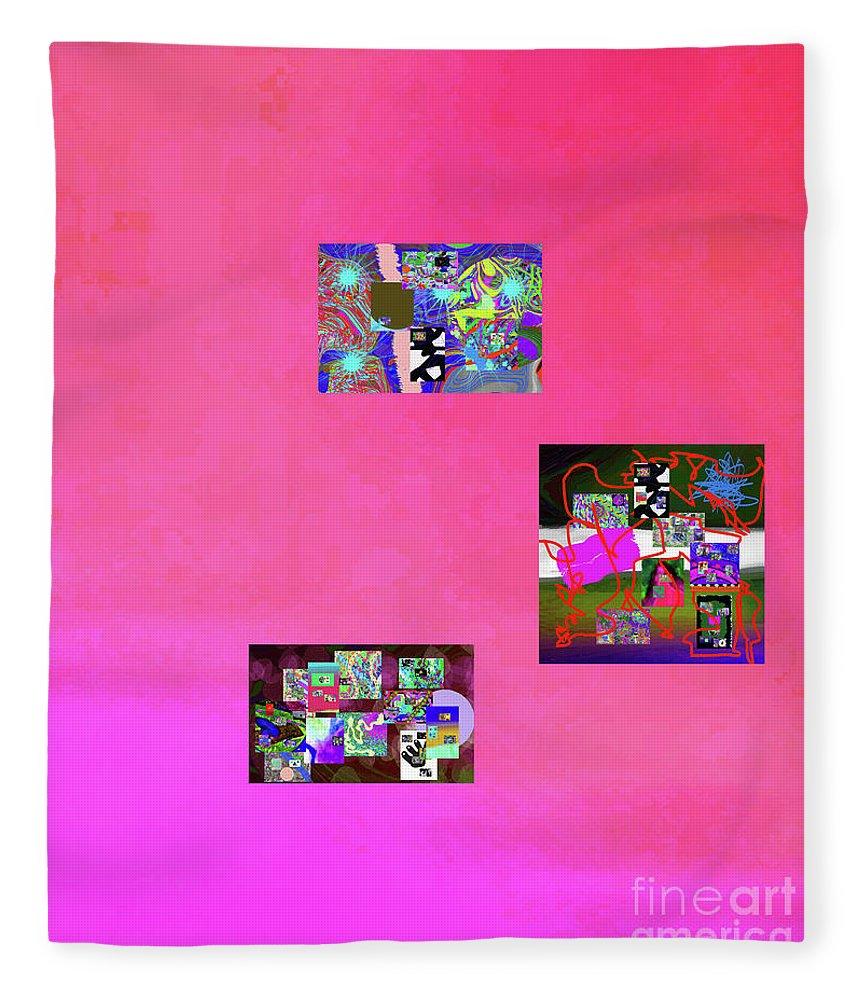 Walter Paul Bebirian Fleece Blanket featuring the digital art 10-23-2015b by Walter Paul Bebirian