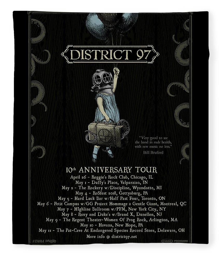Fleece Blanket featuring the digital art 10th Anniversary Tour by District 97