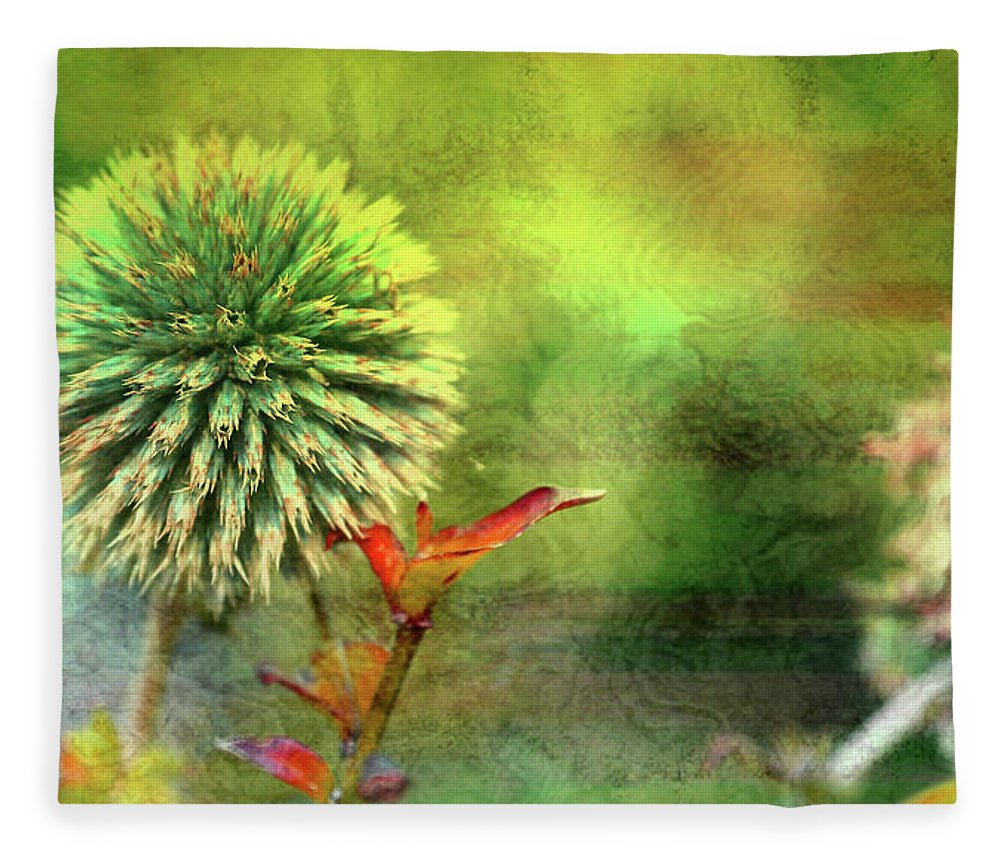 American Beach Cottage Art And Feelings Fleece Blanket featuring the photograph American Beach Cottage Art And Feelings by Paul Ranky