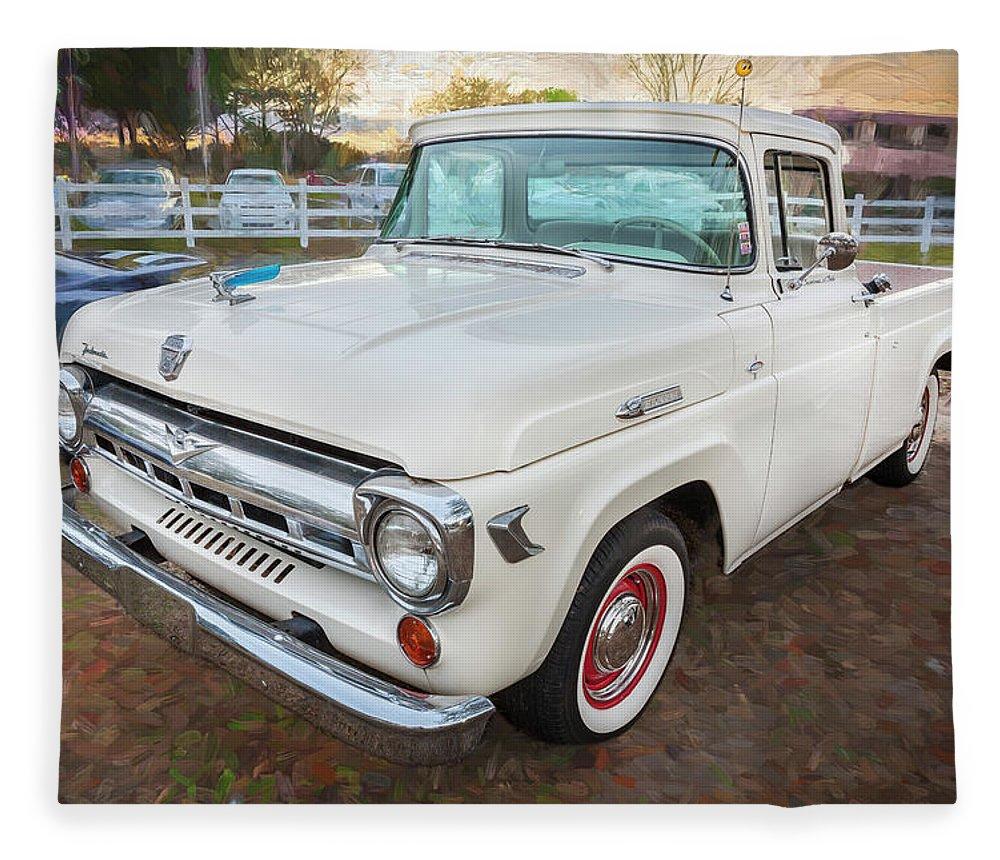 1957 Ford F100 Pickup Truck Fleece Blanket For Sale By Rich Franco