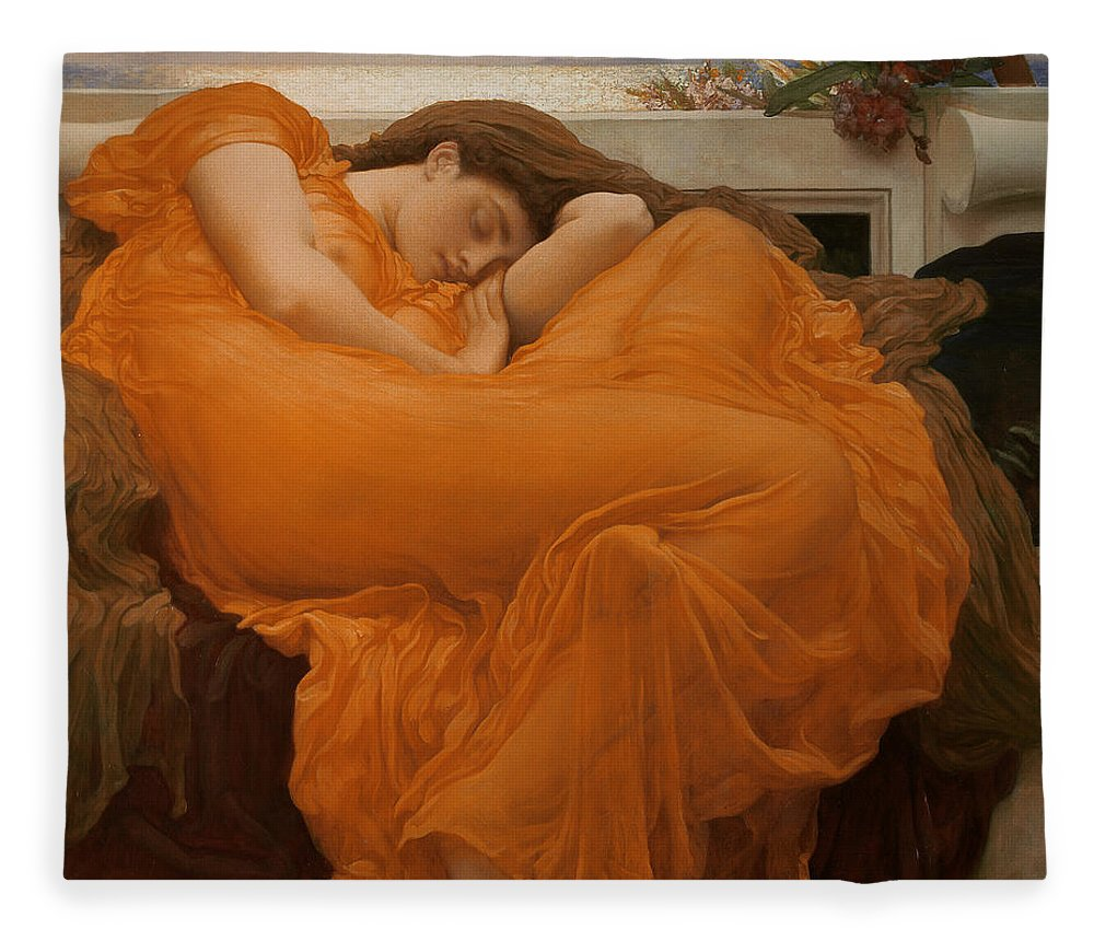Flaming June Fleece Blanket For Sale By Frederic Leighton