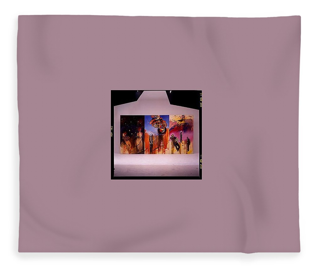 Canvas Fleece Blanket featuring the painting Love Hurts by Charles Stuart