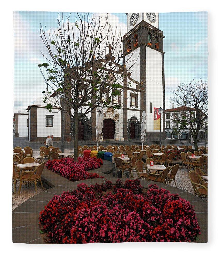 Azores Fleece Blanket featuring the photograph Ponta Delgada - Azores by Gaspar Avila