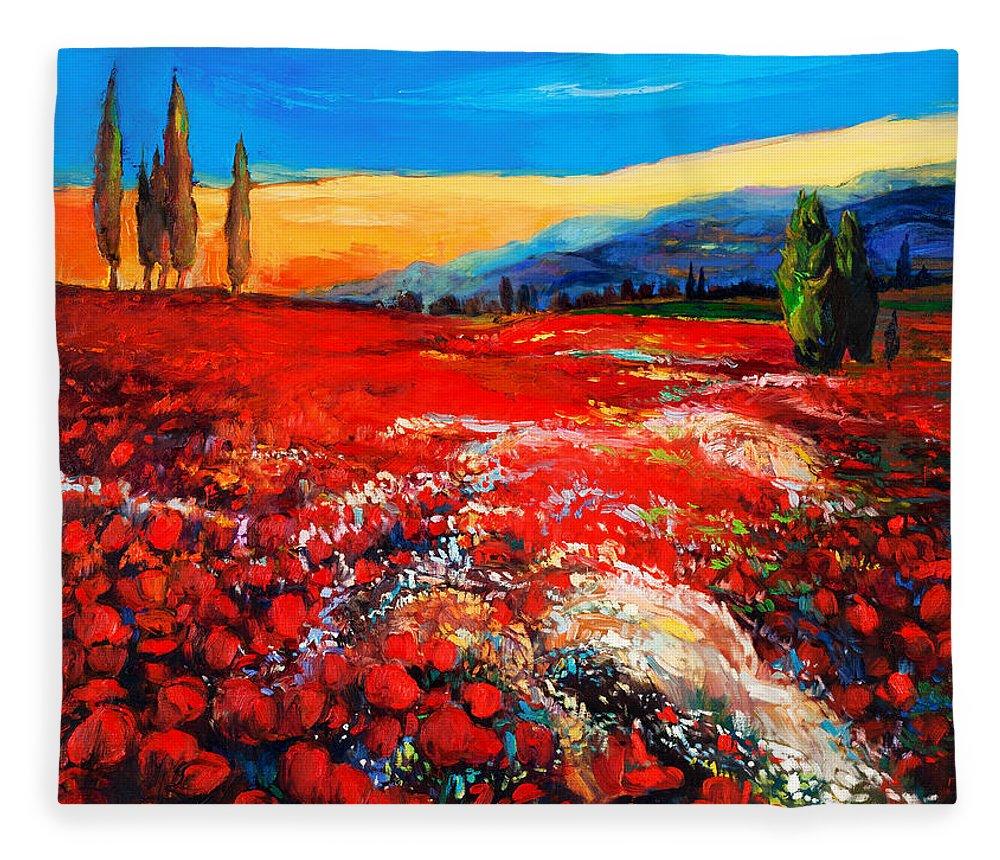 Print on Canvas by Ivailo Nikolov Wall Art Decor Poppy Fields