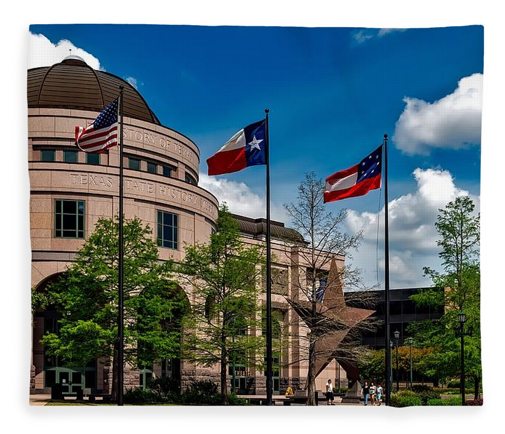 Bullock Texas State History Museum Fleece Blanket featuring the photograph The Bullock Texas State History Museum by Mountain Dreams