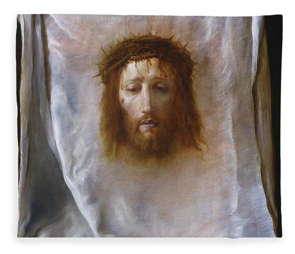 The Veil Of Veronica Fleece Blanket For Sale By Domenico Fetti