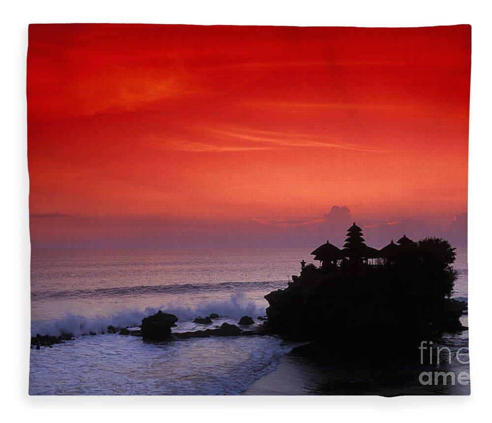 Bali Fleece Blanket featuring the photograph Indonesia, Bali by Gloria & Richard Maschmeyer - Printscapes