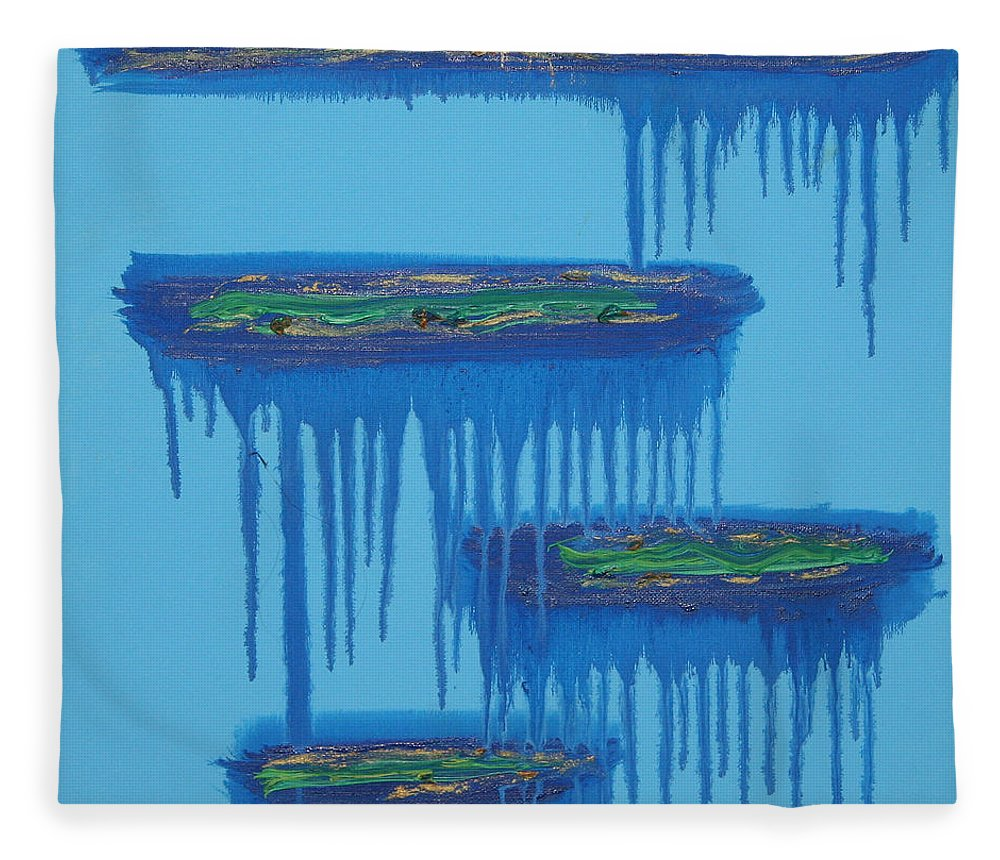 4 Levels Fleece Blanket featuring the painting 4levels4fellings4you by Sitara Bruns