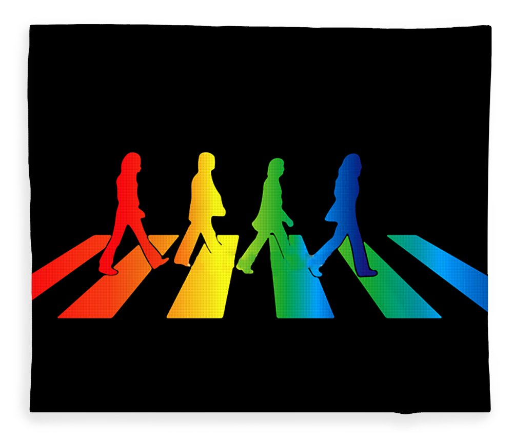 The Beatles Fleece Blanket featuring the digital art The Beatles by Jofi Trazia