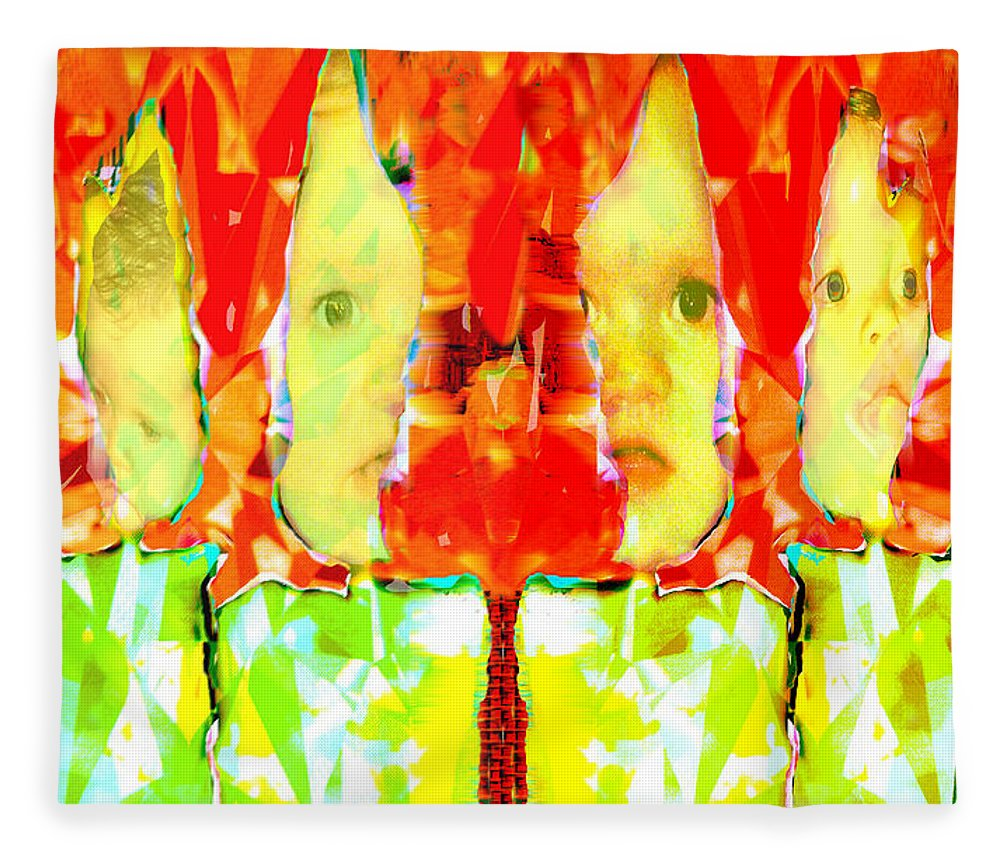 6 Fleece Blanket featuring the digital art 6 Candles of Christmas by Seth Weaver