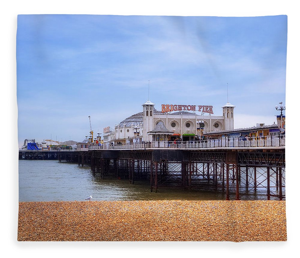 Brighton Pier Fleece Blanket featuring the photograph Brighton Pier by Joana Kruse