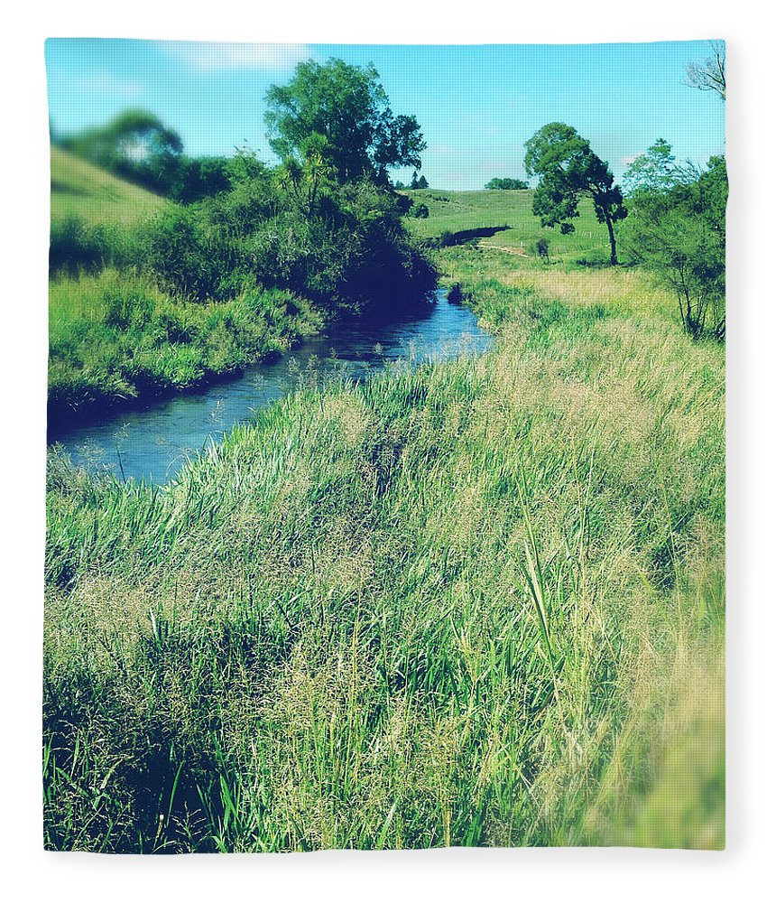 Brook Fleece Blanket featuring the photograph Spring Water by Les Cunliffe