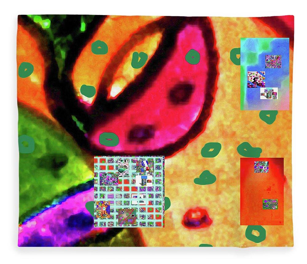 Walter Paul Bebirian Fleece Blanket featuring the digital art 8-3-2015cabcdefghijklmnopqrtuvwxyzabcdef by Walter Paul Bebirian