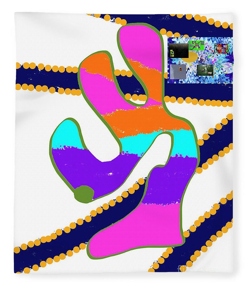 Fleece Blanket featuring the digital art 8-8-2057o by Walter Paul Bebirian