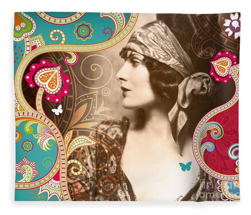 Nostalgic Seduction Fleece Blanket featuring the photograph Goddess by Chris Andruskiewicz