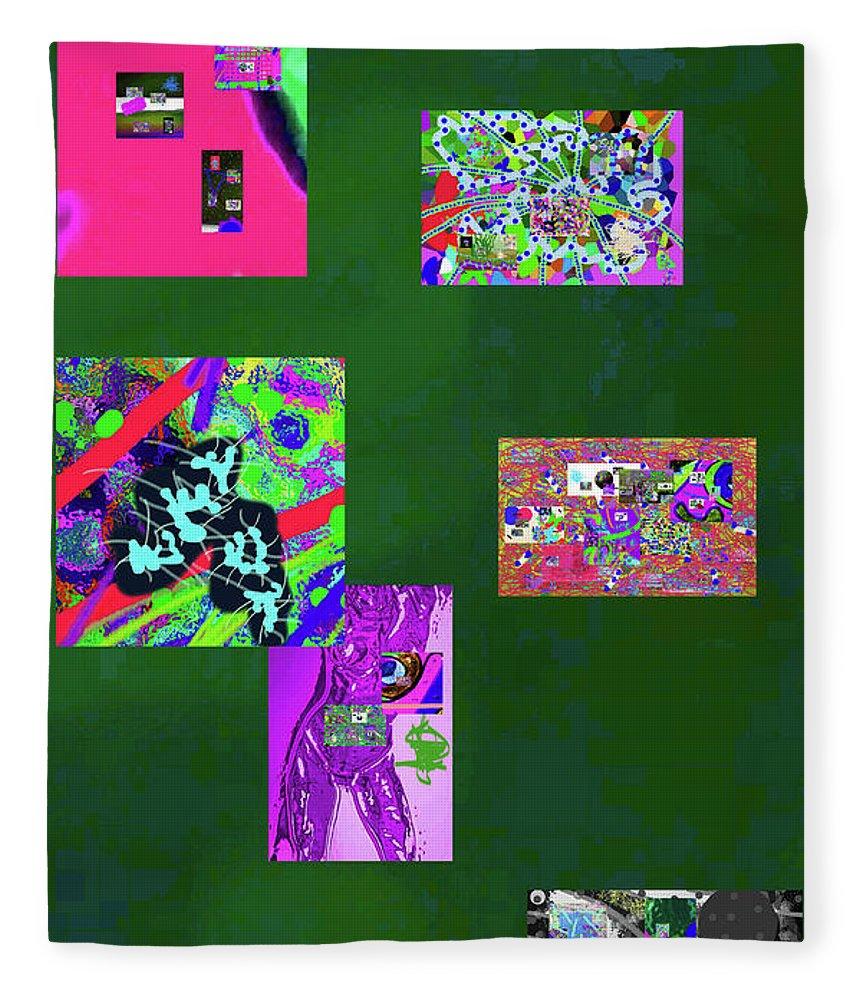 Walter Paul Bebirian Fleece Blanket featuring the digital art 9-12-2015c by Walter Paul Bebirian