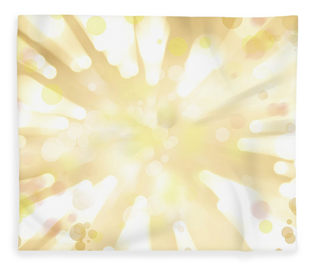Big Bang Fleece Blanket featuring the digital art Explosive Background by Les Cunliffe
