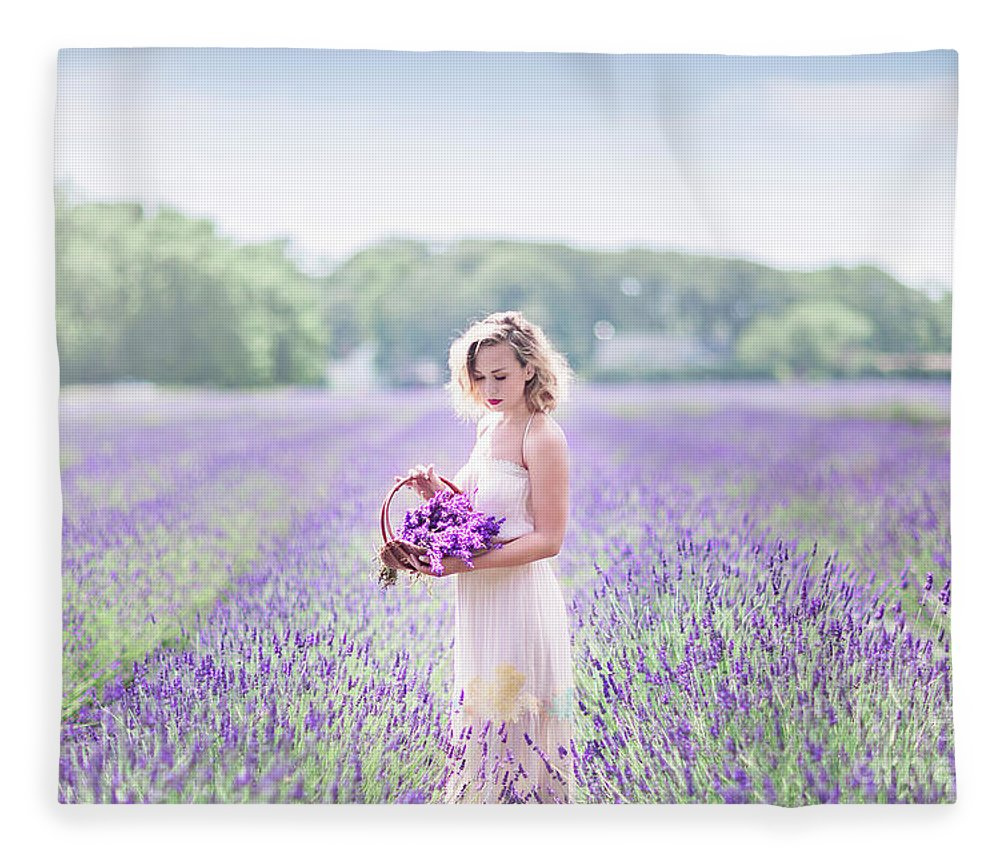 Kremsdorf Fleece Blanket featuring the photograph A Garden Of Delights by Evelina Kremsdorf