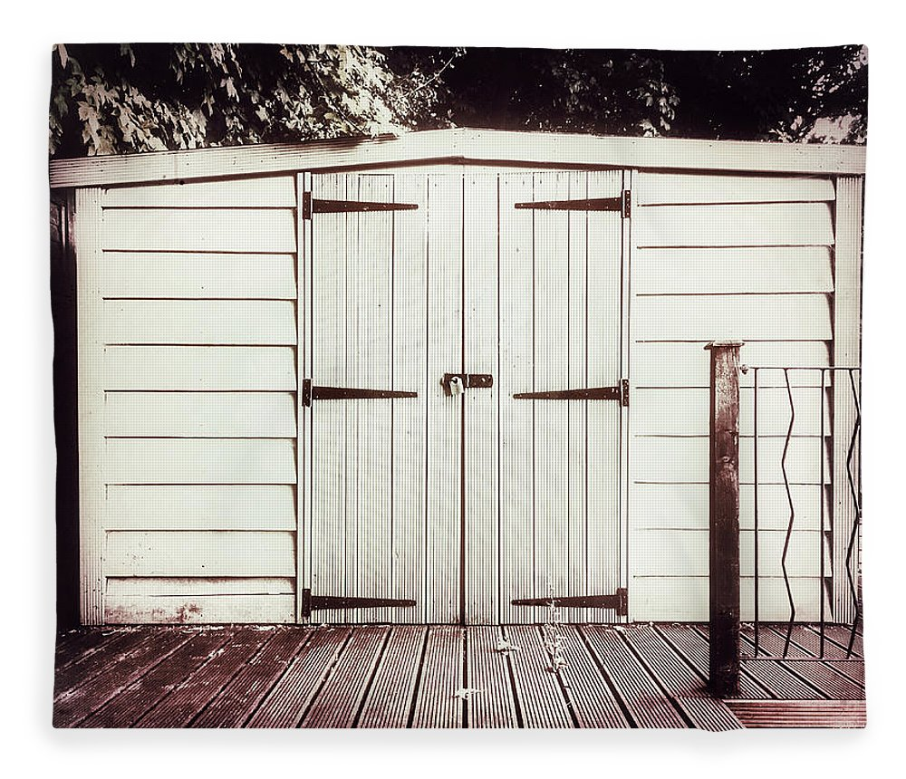 Architecture Fleece Blanket featuring the photograph A Garden Shed by Tom Gowanlock