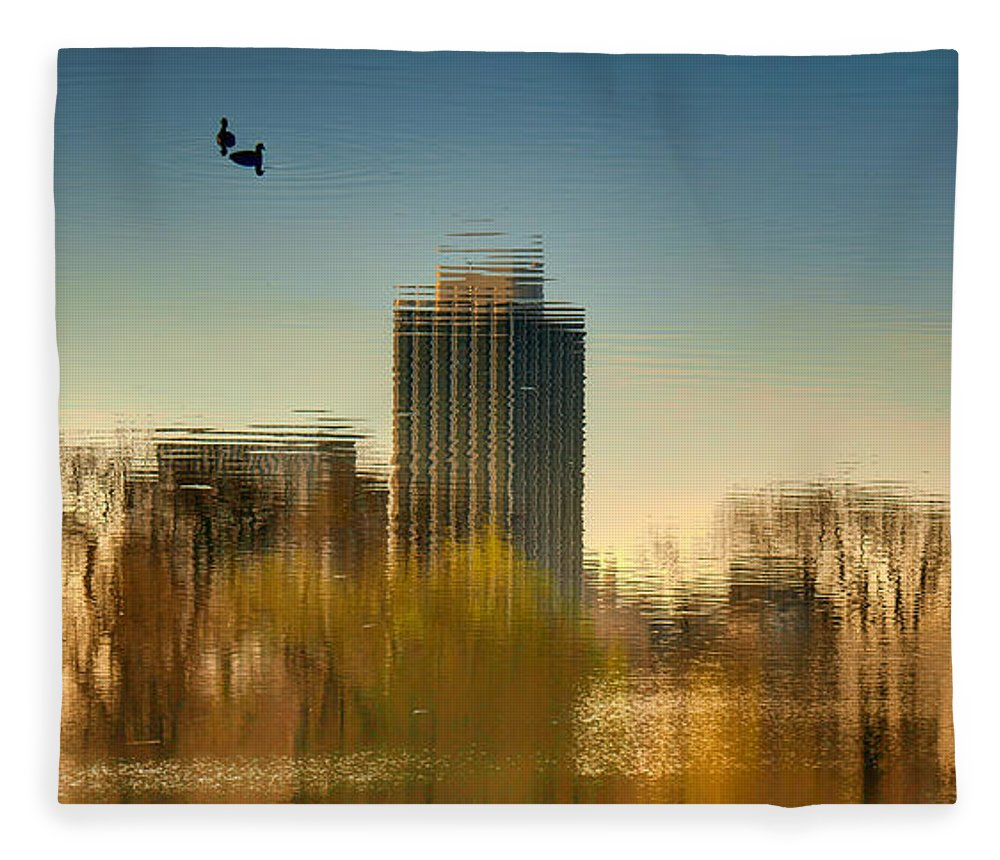 Chicago Fleece Blanket featuring the photograph A Glimpse Of Chicago by Nikolyn McDonald