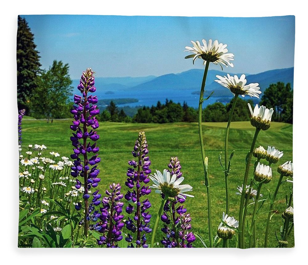 Fleece Blanket featuring the photograph A June Day In Heaven by Kendall McKernon