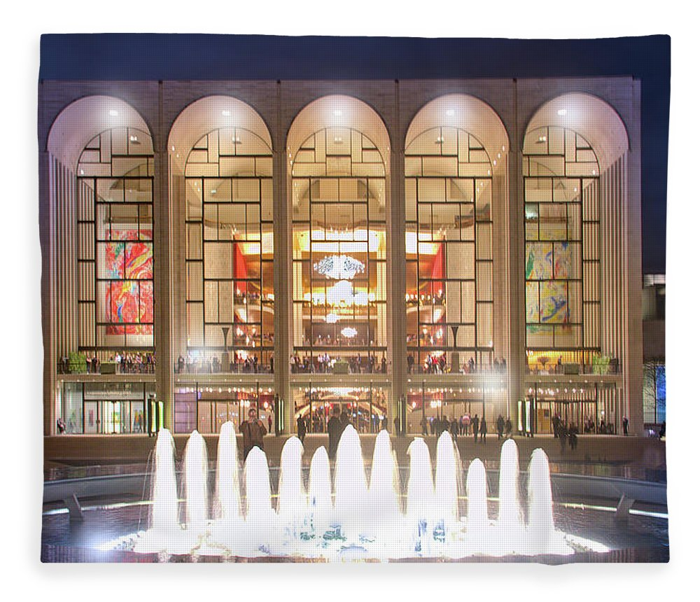 Lincoln Center Fleece Blanket featuring the photograph A Night At Lincoln Center by Mark Andrew Thomas