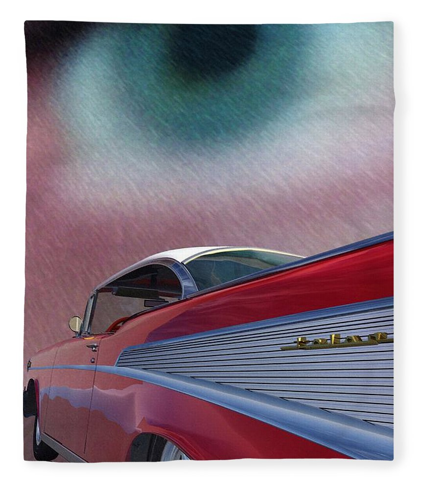 Classic Cars Fleece Blanket featuring the digital art A Second Look by Richard Rizzo