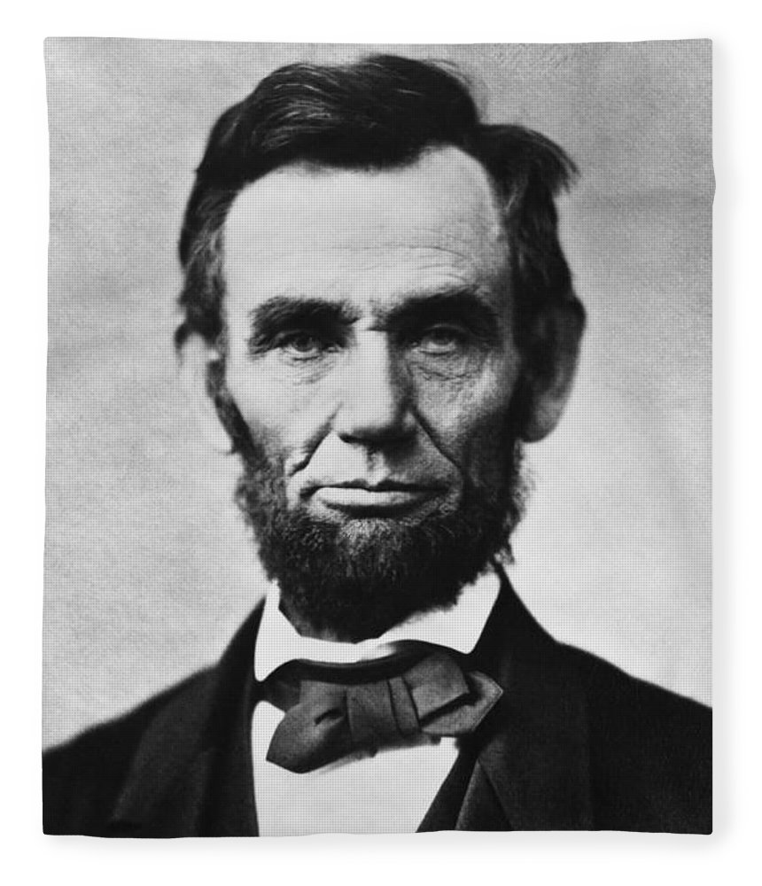 Abraham Lincoln Fleece Blanket featuring the photograph Abraham Lincoln by War Is Hell Store