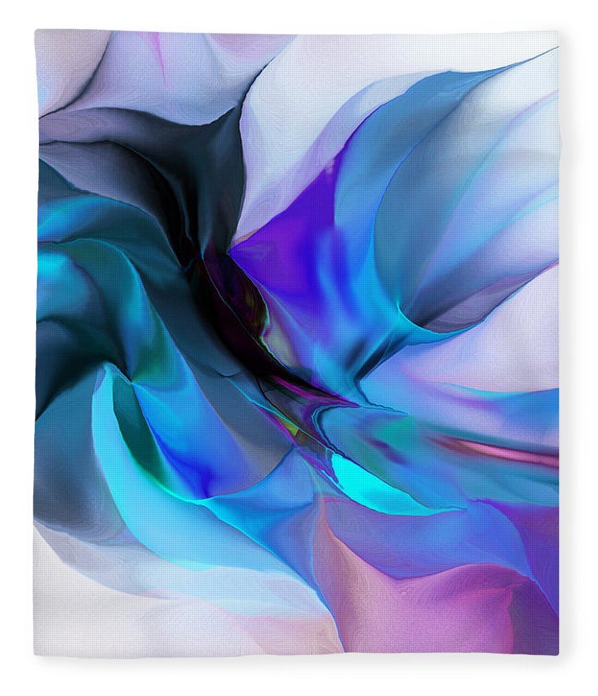 Fine Art Fleece Blanket featuring the digital art Abstract 012513 by David Lane