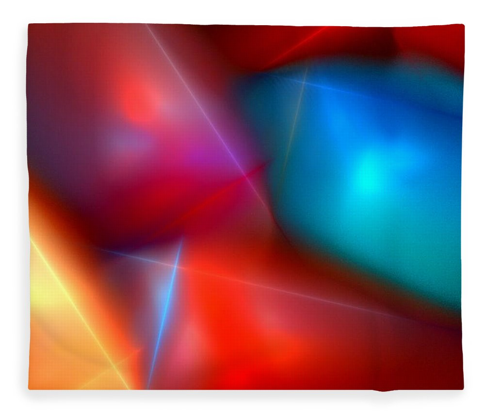 Digital Painting Fleece Blanket featuring the digital art Abstract 060110 by David Lane
