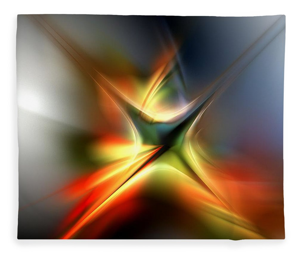 Digital Painting Fleece Blanket featuring the digital art Abstract 060310A by David Lane