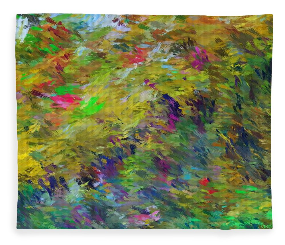 Abstract Fleece Blanket featuring the digital art Abstract 111510 by David Lane