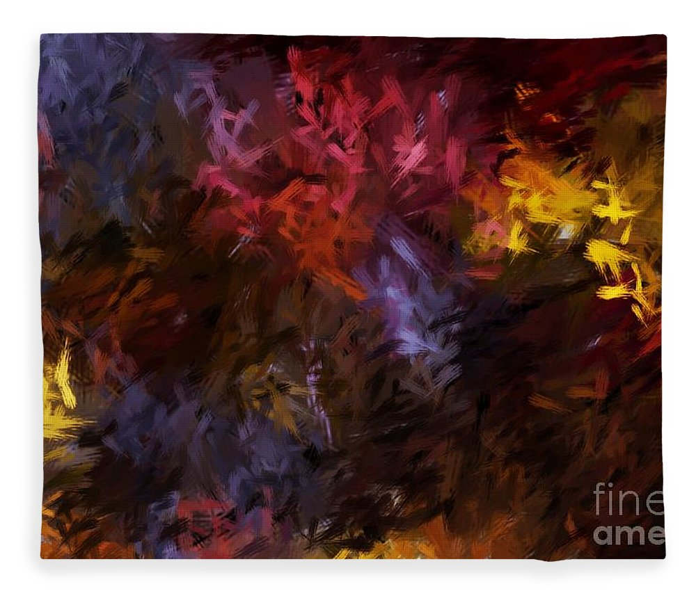 Abstract Fleece Blanket featuring the digital art Abstract 5-23-09 by David Lane