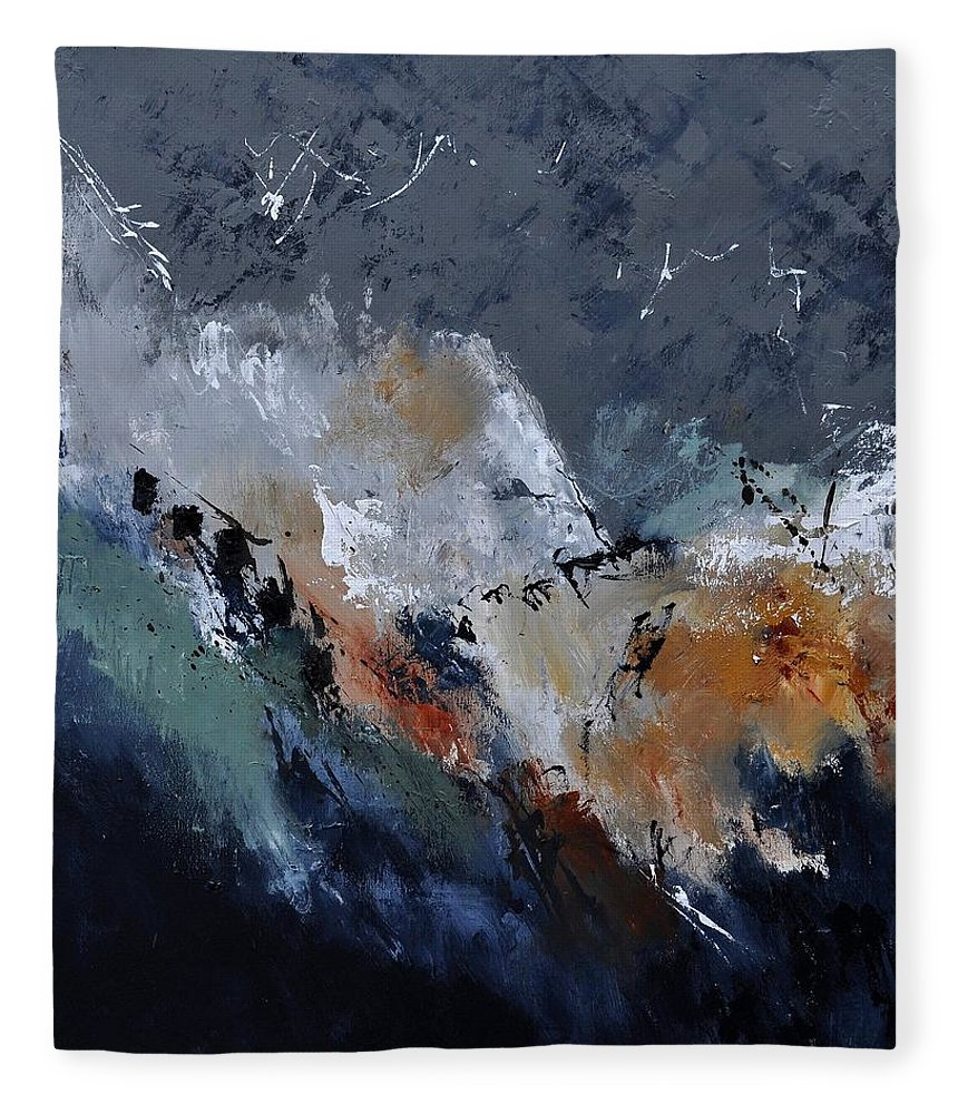 Abstract Fleece Blanket featuring the painting Abstract 8821901 by Pol Ledent