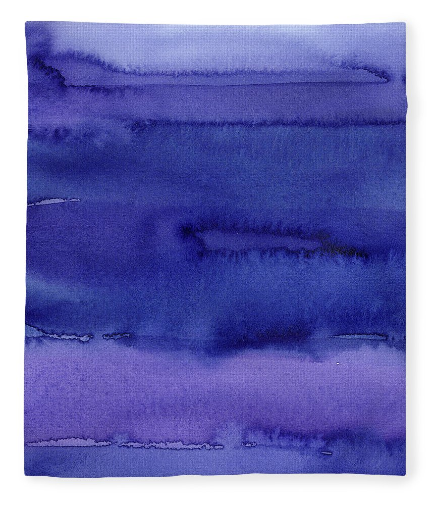 Purple Fleece Blanket featuring the painting Abstract Watercolor Pattern by Olga Shvartsur