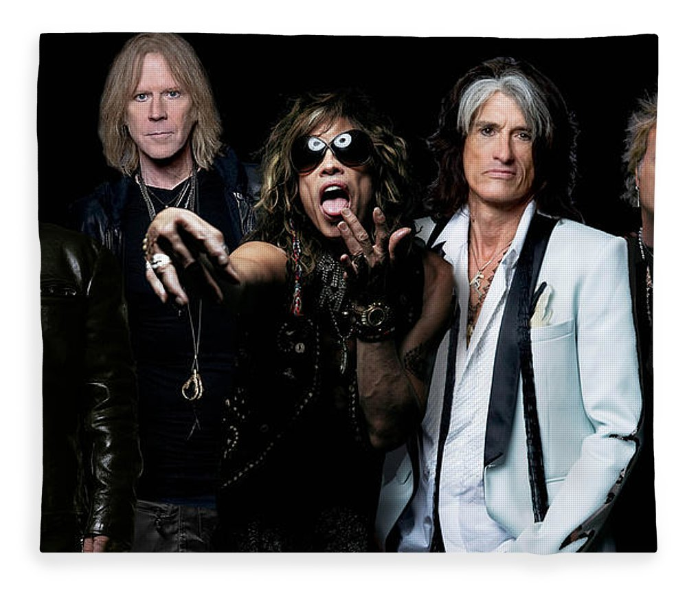 Aerosmith Fleece Blanket featuring the photograph Aerosmith by Sean