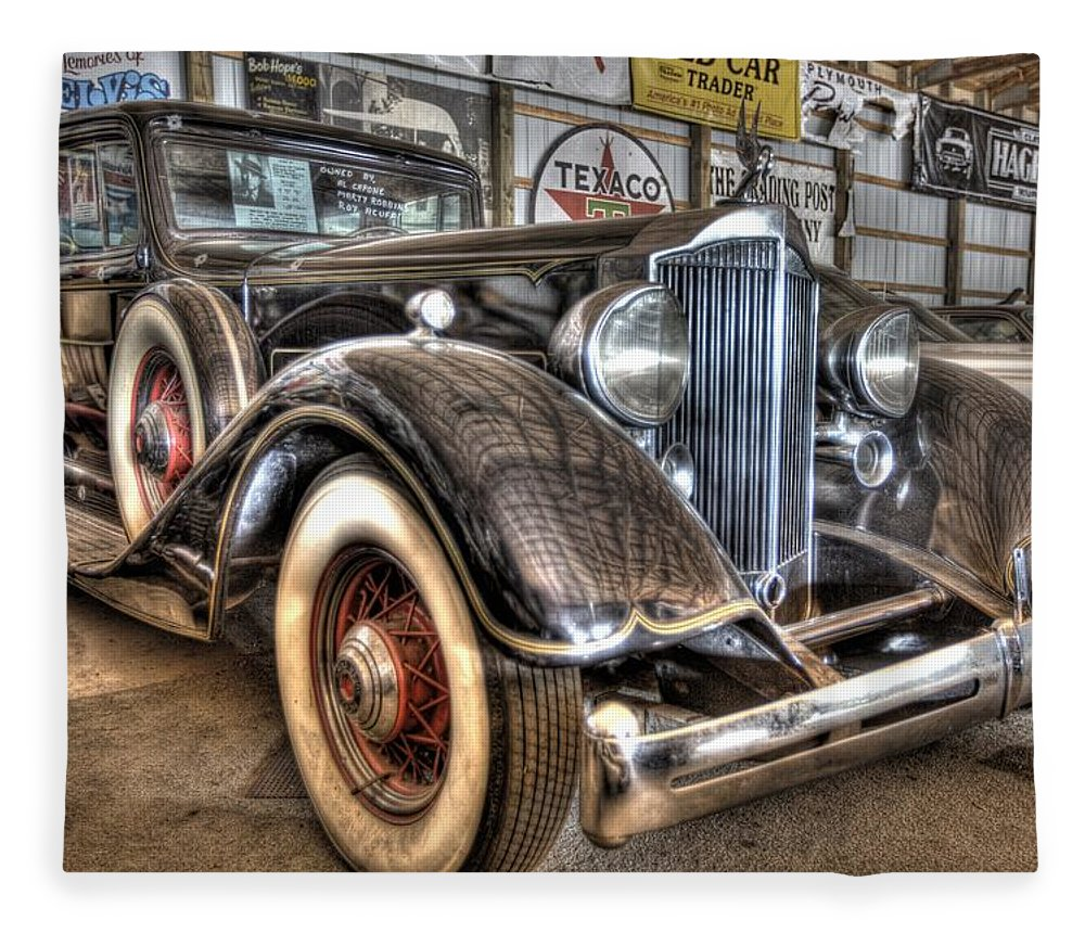 Al Capone Fleece Blanket featuring the photograph Al Capone's Packard by Nicholas Grunas