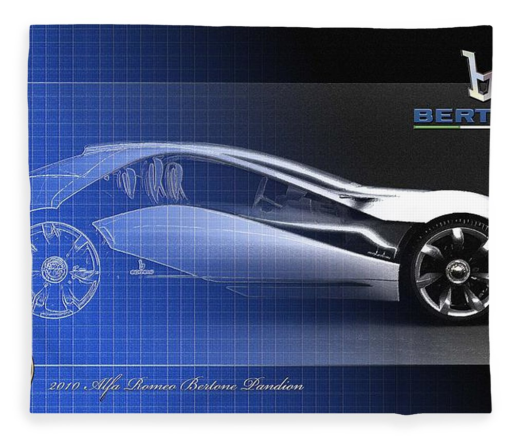 Wheels Of Fortune By Serge Averbukh Fleece Blanket featuring the photograph Alfa Romeo Bertone Pandion Concept by Serge Averbukh