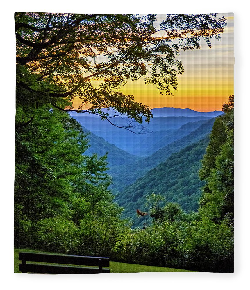 Babcock State Park Fleece Blanket featuring the photograph Almost Heaven - West Virginia 3 by Steve Harrington