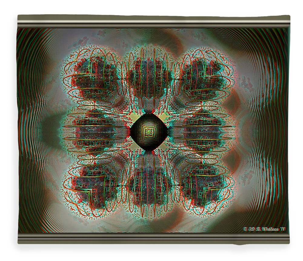 3d Fleece Blanket featuring the photograph Alpha Waves - View With Red-cyan 3d Glasses by Brian Wallace
