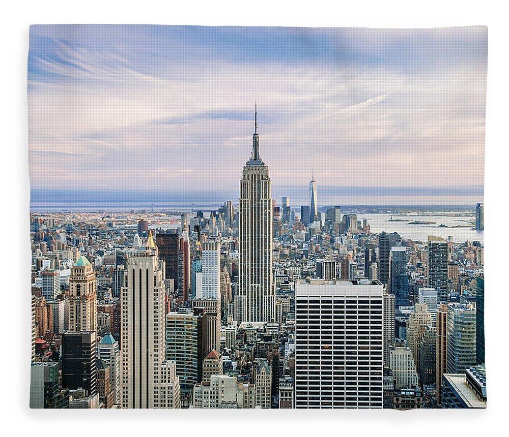 Empire State Building Fleece Blanket featuring the photograph Amazing Manhattan by Az Jackson