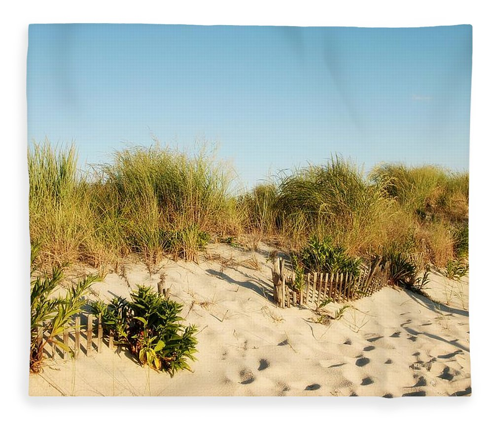 Jersey Shore Fleece Blanket featuring the photograph An Opening In The Fence - Jersey Shore by Angie Tirado