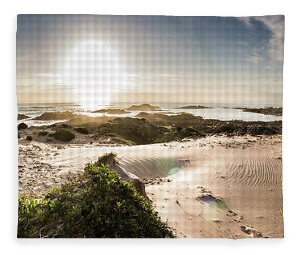 Australia Fleece Blanket featuring the photograph Another Beach Sunset by Jorgo Photography - Wall Art Gallery