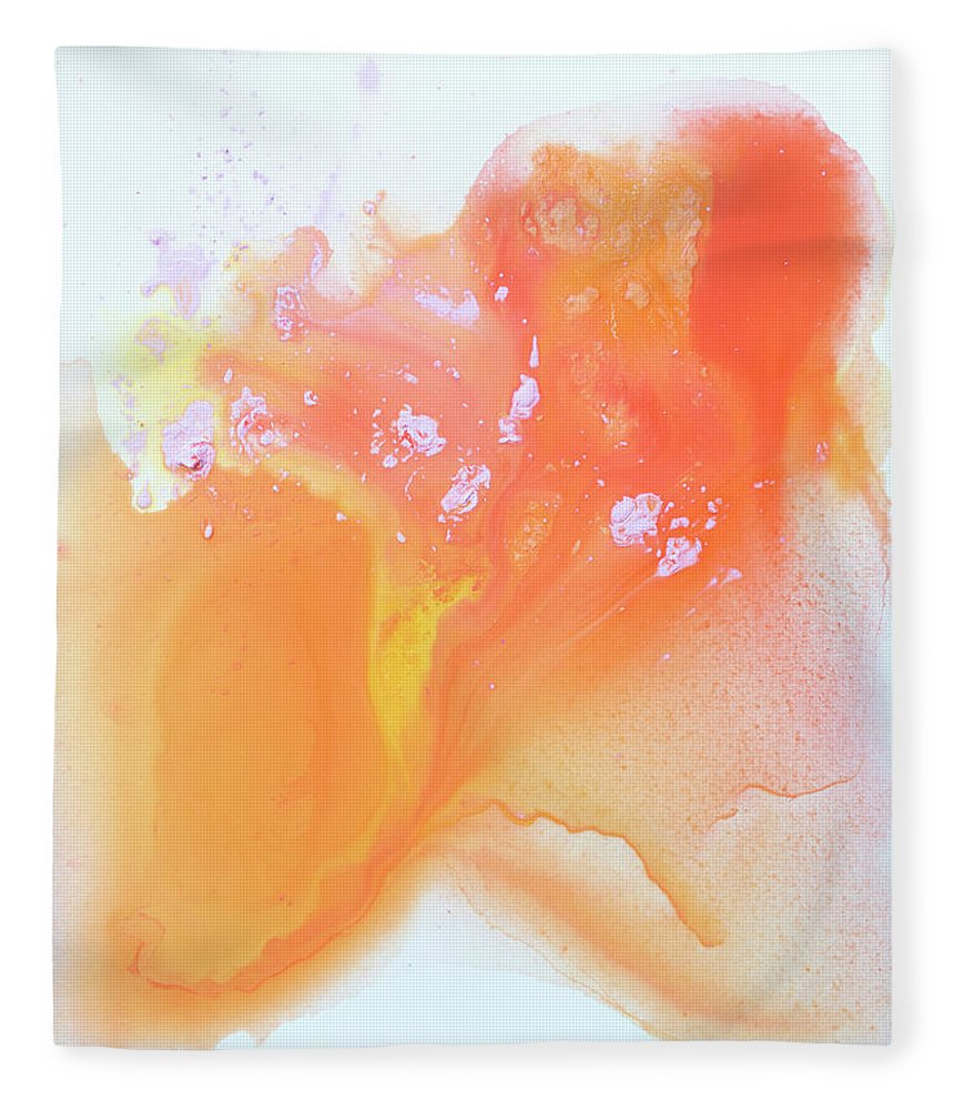 Abstract Fleece Blanket featuring the painting Another Love by Claire Desjardins