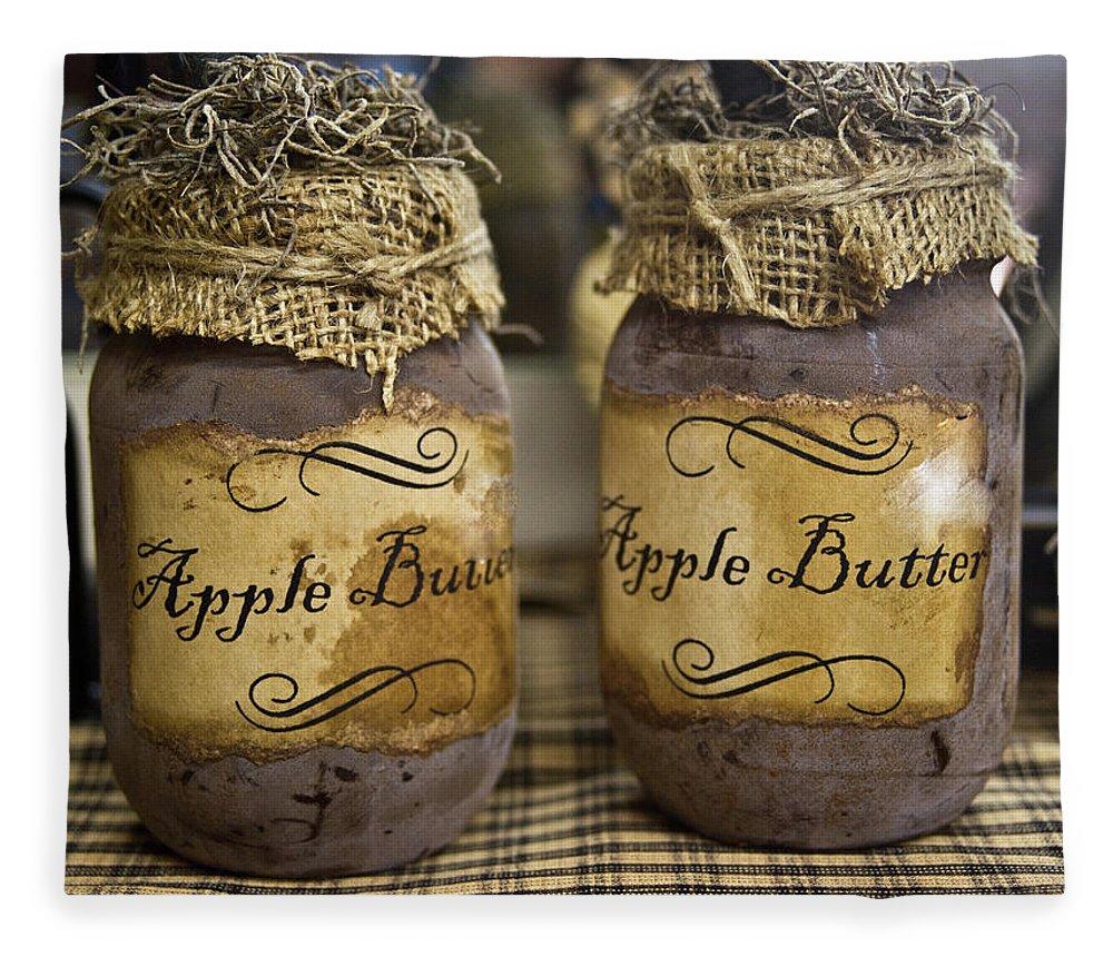 Apple Fleece Blanket featuring the photograph Apple Butter by Douglas Barnett