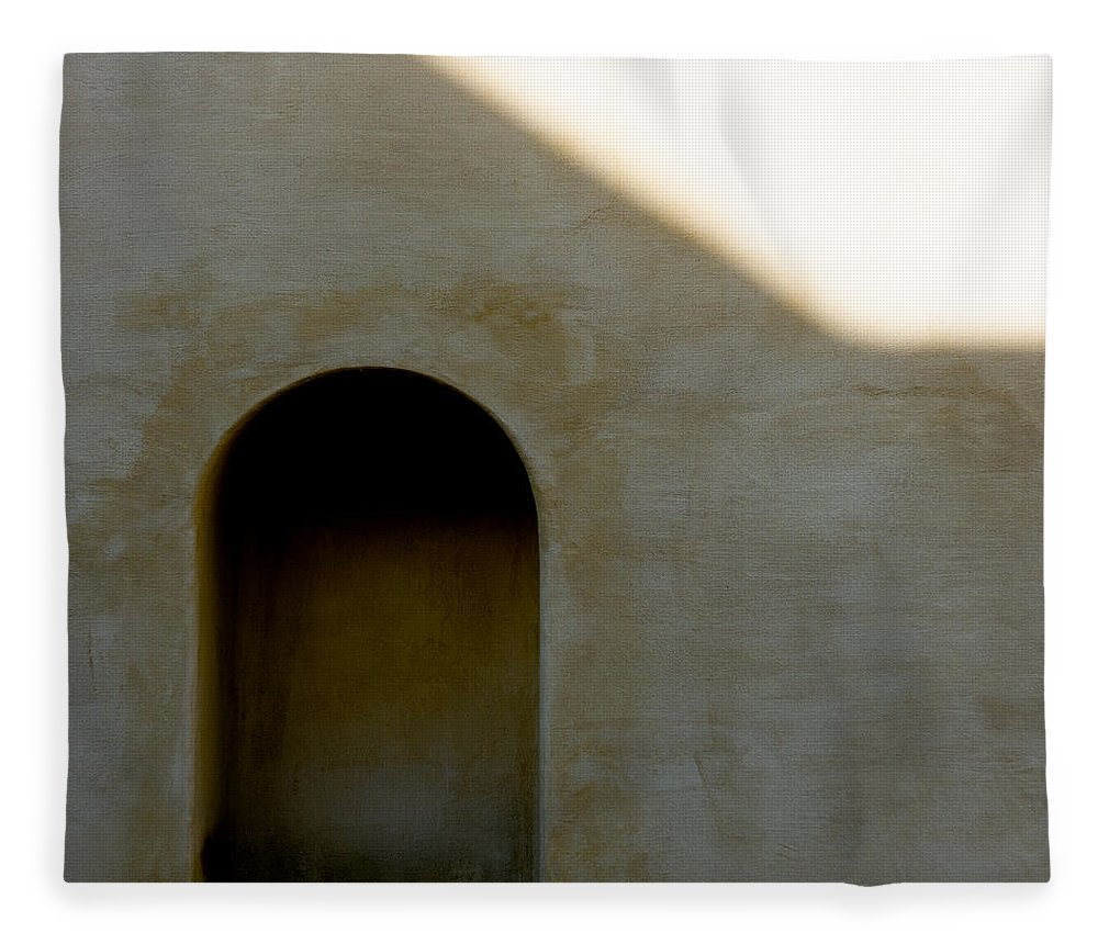 Shadow Fleece Blanket featuring the photograph Arch In Shadow by Dave Bowman