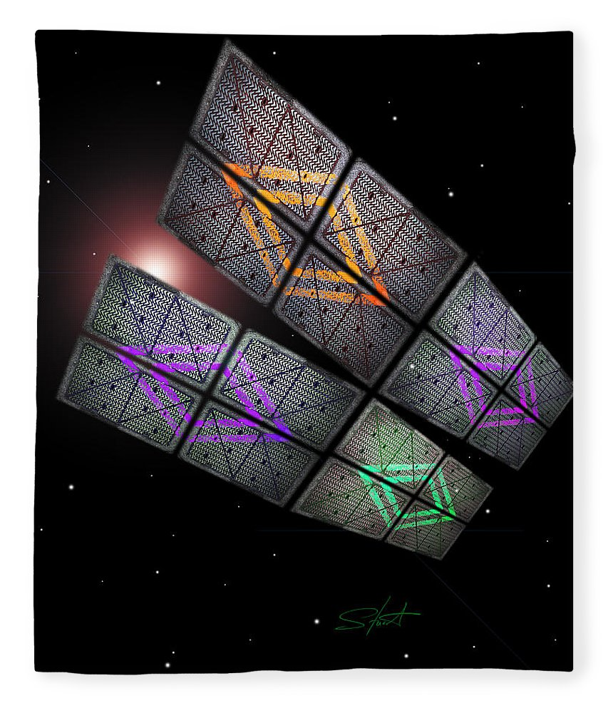 Scifi Fleece Blanket featuring the photograph Arrival by Charles Stuart