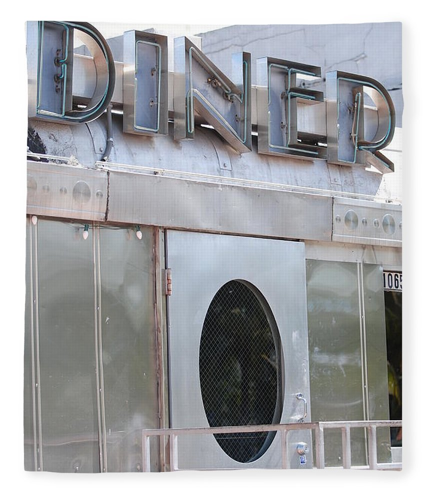 Architecture Fleece Blanket featuring the photograph Art Deco Diner by Rob Hans
