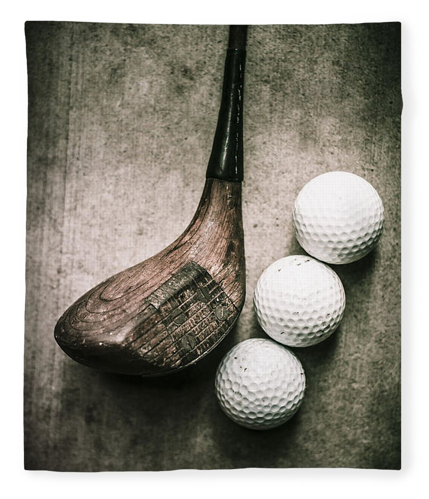 Old Fleece Blanket featuring the photograph Art Of Golfing by Jorgo Photography - Wall Art Gallery